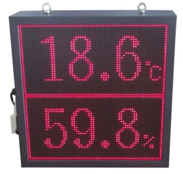 智能数显温湿度看板