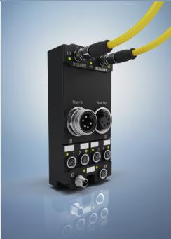 EtherCAT I/O 系统:IP 67 电源分配端子盒集成电流和电压测量技术