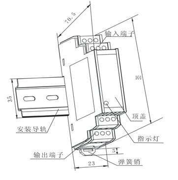 WB系列交直流通用电量隔离传感器工作原理