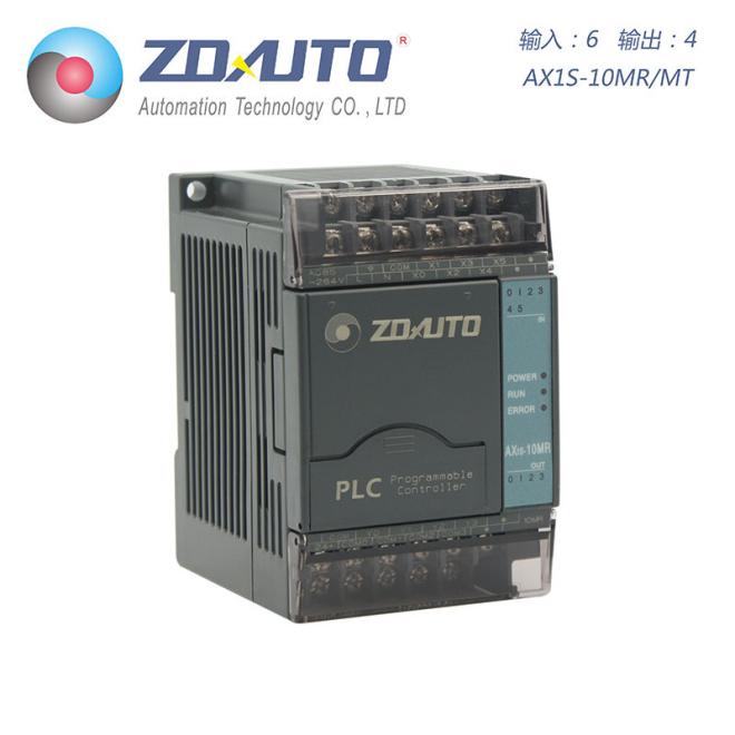 智达自动化 AX1S-10点PLC 6入4出 兼容三菱