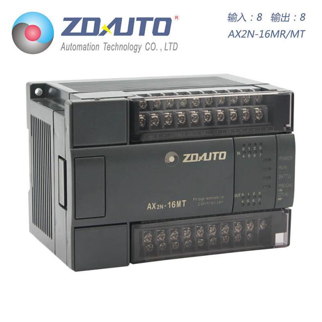 智达自动化 AX2N-16点PLC 8入8出 可扩展 兼容三菱
