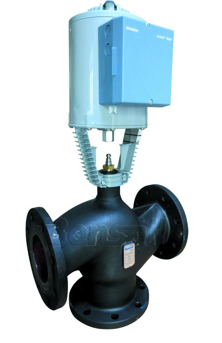 西门子原装混装电动三通调节阀温控阀