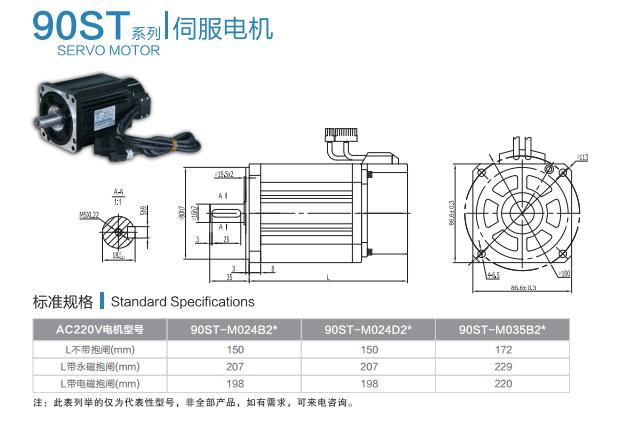 黄石科威 伺服电机90ST系列