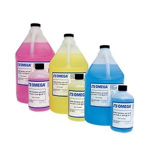OMEGA预混合pH值校准液和去离子水