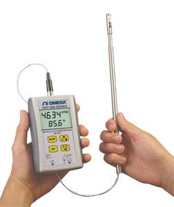 OMEGA手持式空气速度/温度计 配备无线选件
