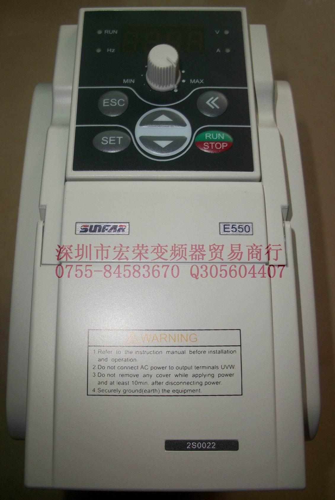 SUNFAR变频器E550-2S0022及操作面板大量现货
