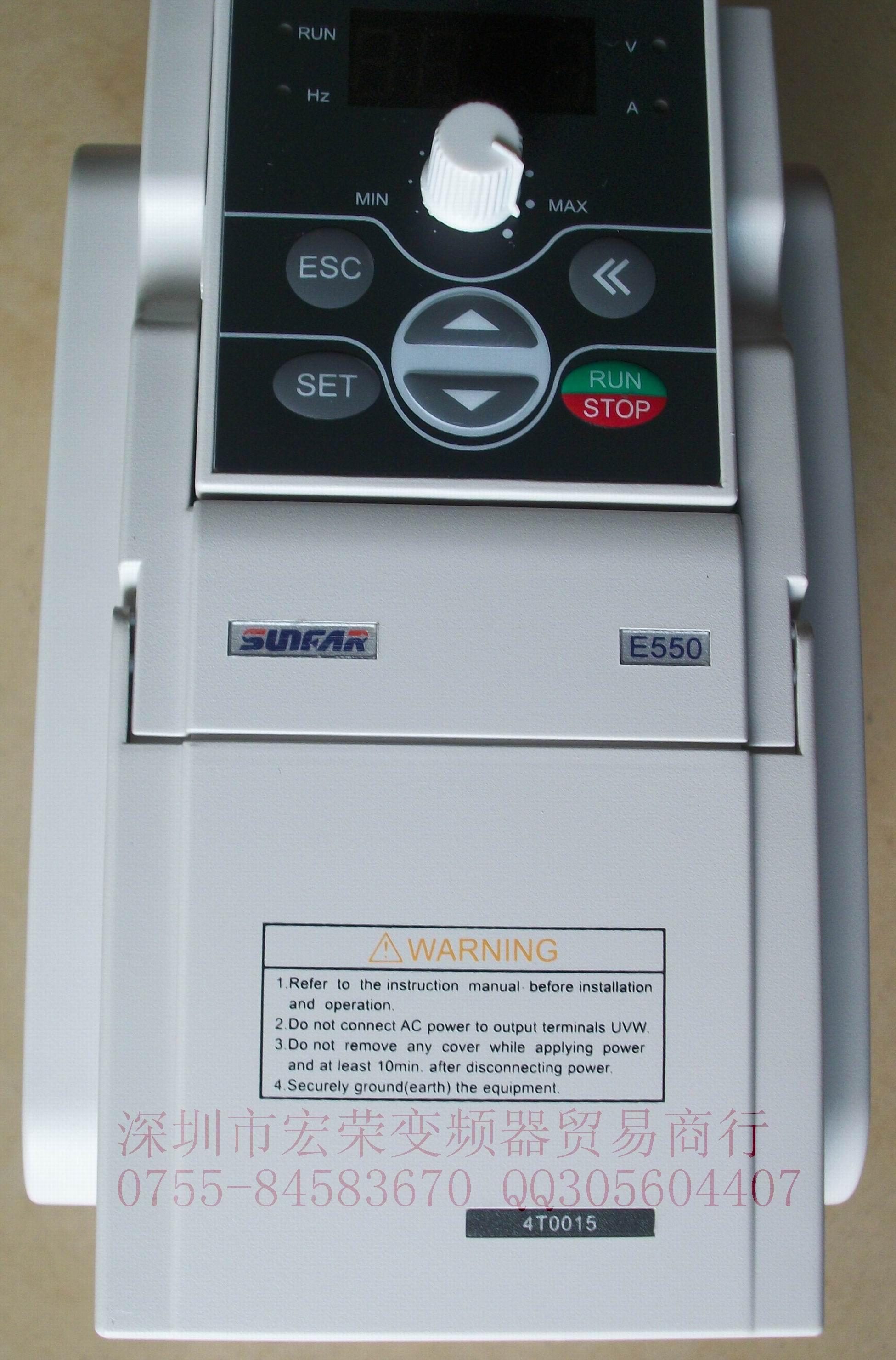 SUNFAR变频调速器E550-4T0015及显示面板现货