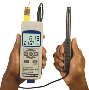 OMEGA手持式温湿度计/数据记录器
