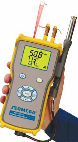 OMEGA红外线测温仪手持式