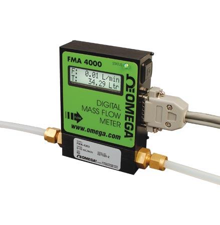 OMEGA可编程气体质量流量计和累加器