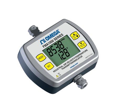 OMEGA通用型工业用空气速度/温度变送器/指示器
