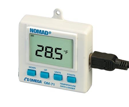 欧米茄OM-70系列配有显示屏的便携式数据记录器