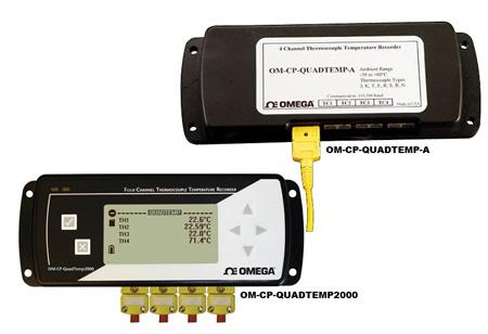 欧米茄OM-CP-QUADTEMP-A系列4通道温度数据记录器