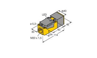 电感式传感器  BI15-CP40-Y1X