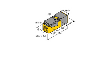 电感式传感器 带有扩展检测范围 NI35-CP40-Y1X/S100