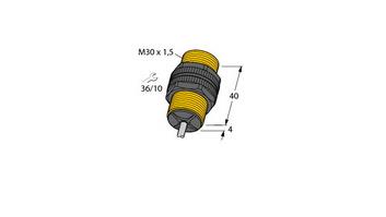 电感式传感器 带有扩展检测范围 BI10-P30-Y1/S100