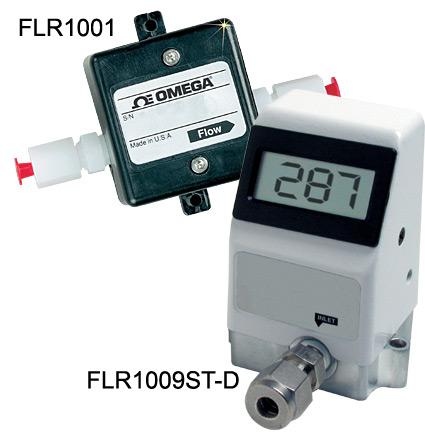 欧米茄FLR1000系列低流量涡轮流量计用于液体和气体测量