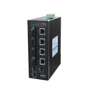 MIE-1408P 4光4电+3G工业以太网交换机