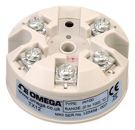 欧米茄TX12 RTD顶部安装温度变送器智能回路供电