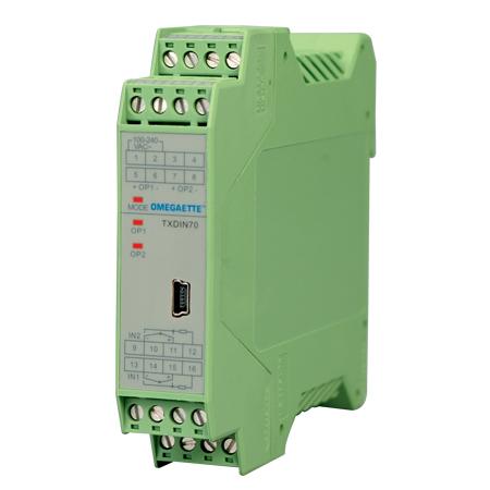 omega TXDIN70导轨安装温度变送器