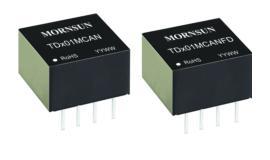 超小体积CAN/CANFD隔离收发模块TD-MCAN/TD-MCANFD系列