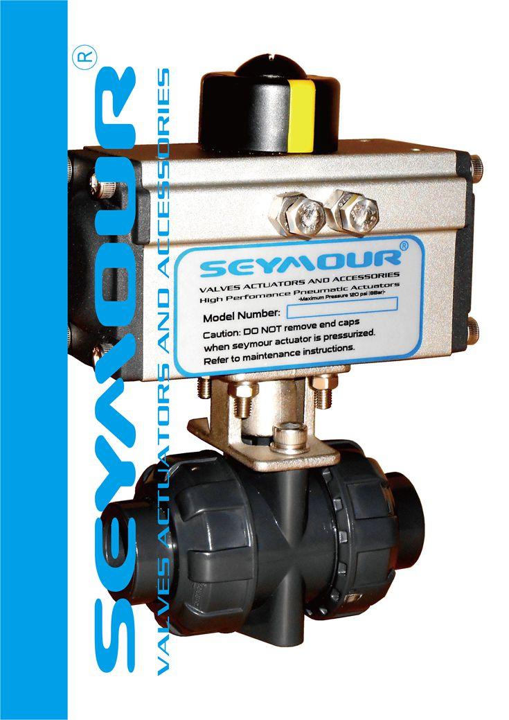 气动PVC由令球阀-高端品质台湾进口阀门配Symoue西美尔高性能气动阀门执行机构