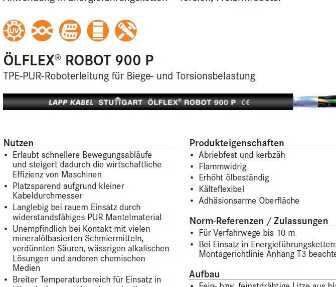 LAPPKABEL ROBOT机器人电缆