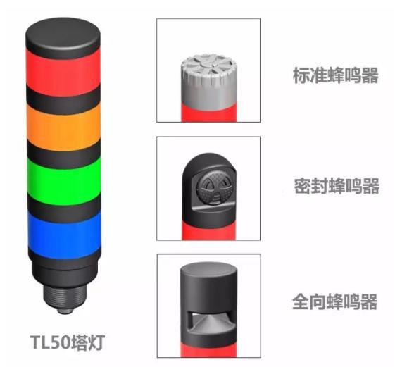 支持IO-Link通信的邦纳TL50指示灯