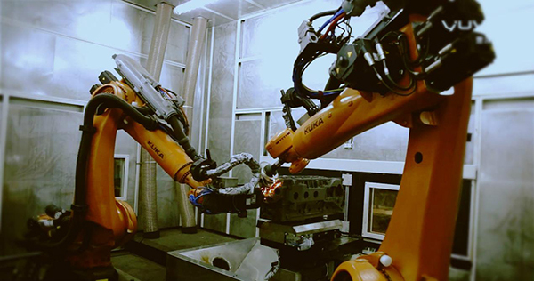 国内首个汽车缸体自动化打磨项目由誉洋成功实施