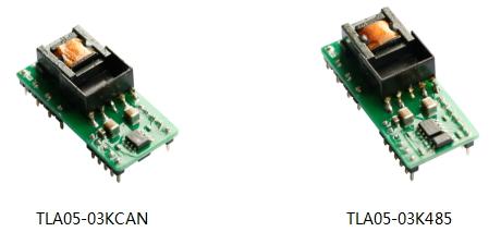 集成CAN/485隔离总线收发器的3W AC/DC电源
