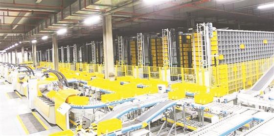 苏宁云商出第三季度报 9月末投入8个、在建4个自动化拣选中心