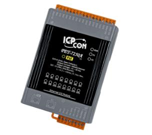 泓格科技 ET-7250A/PET-7250A 网络型I/O模块,支持2-port Ethernet Switch、12个数字输入通道与6个数字输出通道