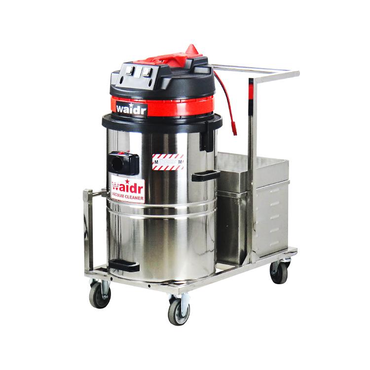 铣床地面清理铁屑铝屑用威德尔充电式吸尘器 移动式电瓶吸尘器