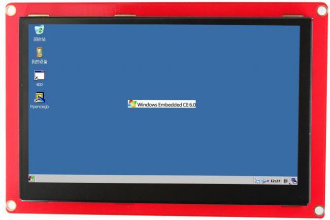 5寸无网口ARM触摸屏wince显示终端可编程 人机界面