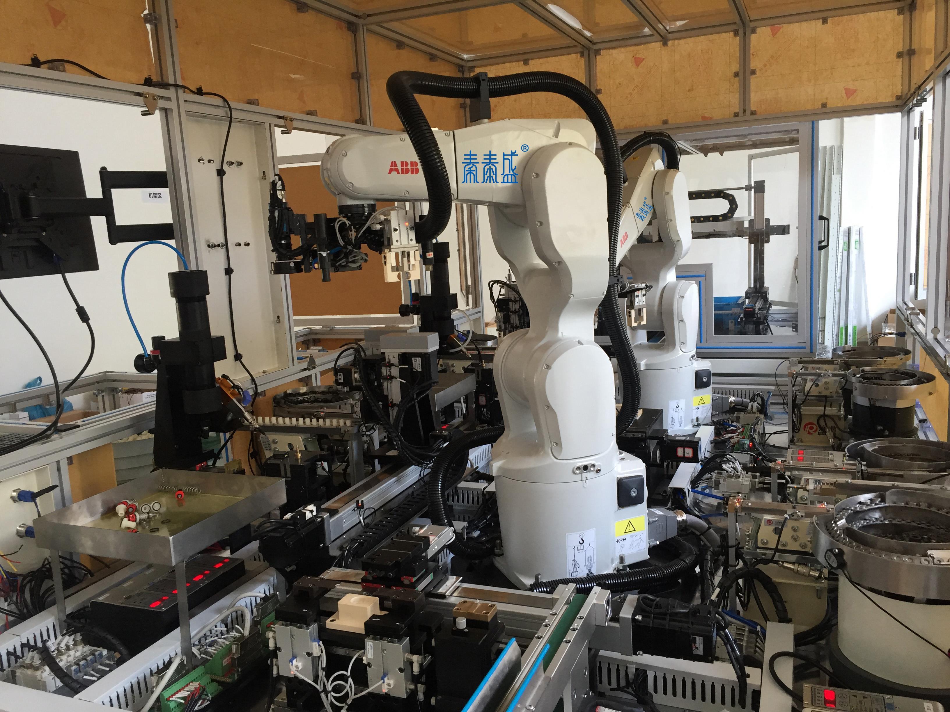 全自动压杆组装流水线 电子产品自动化组装流水线 非标流水线定制
