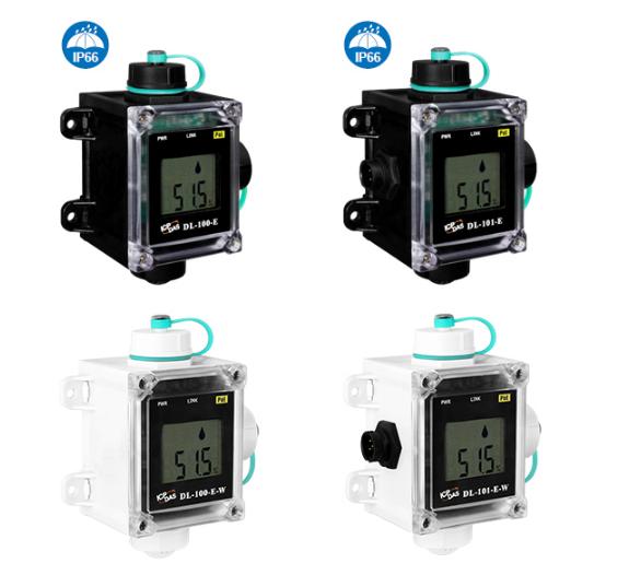泓格科技新产品上市: DL-100-E/DL-101-E/DL-100-E-W/DL-101-E-W LCD显示远程温度湿度数据记录模块/具有安全警报功能的远程温度湿度和露点数据记录模块