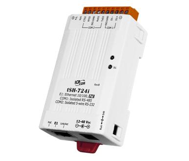 泓格科技新產品上市: tSH-724i 1 口隔離型RS-485與1口隔離型RS-232及PoE供電的微型串行端口轉換器