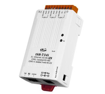 泓格科技新產品上市: tSH-734i 1 口隔離型RS-485與2 口隔離型RS-232及PoE供電的微型串行端口分享器