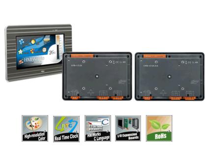 泓格科技新產品上市: VPD-173X/VPD-173X-64 7寸觸控人機界面裝置,支持RS-232/485、USB、以太網絡 (PoE)、實時時鐘 (RTC)及I/O 擴充卡 (RoHS)