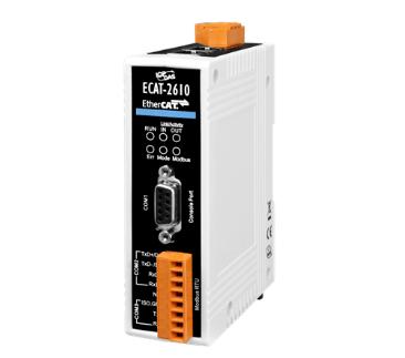 泓格科技新產品上市: ECAT-2610 EtherCAT 轉 Modbus RTU 網關