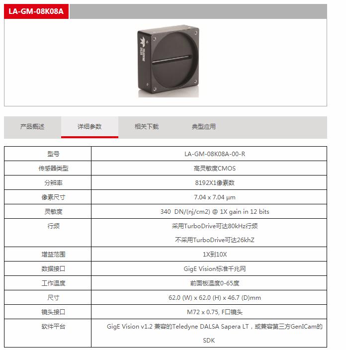 线扫相机选型-DALSA