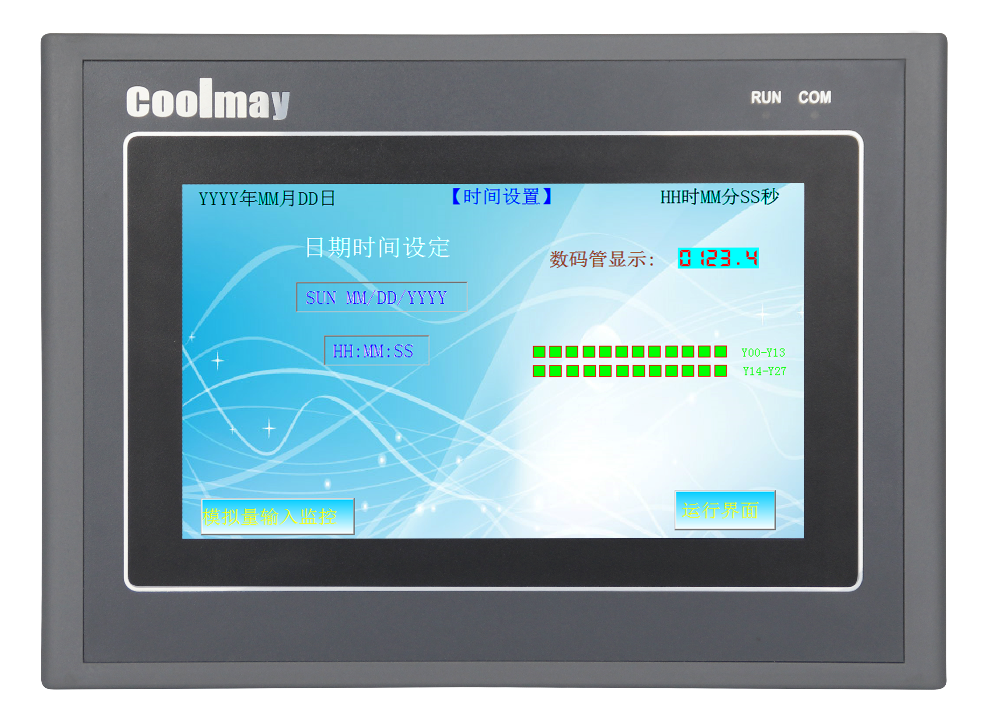 EX3G-70KHA(S)  HMI/PLC一体机开关量30入30出模拟量16入8出PLC一体机