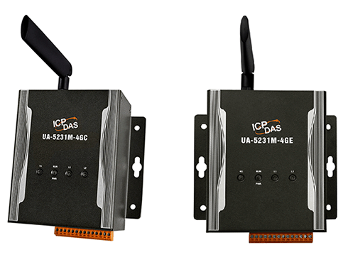 云端物联网 UA Series 新产品: UA-5231M-4GE 和 UA-5231M-4GC 支持各国4G LTE频段的工业物联网通讯服务器