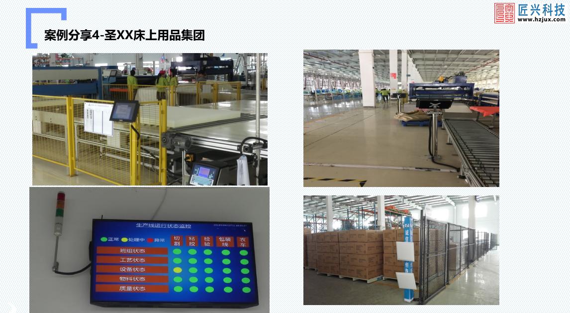某床上用品集团生产数据采集系统
