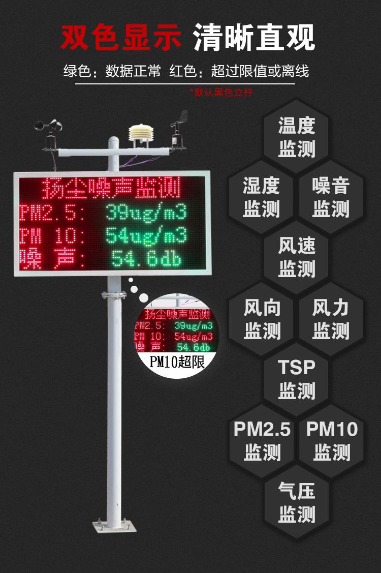 扬尘监测系统建筑工地噪声噪音粉尘在线检测仪PM2.5空气质量PM10