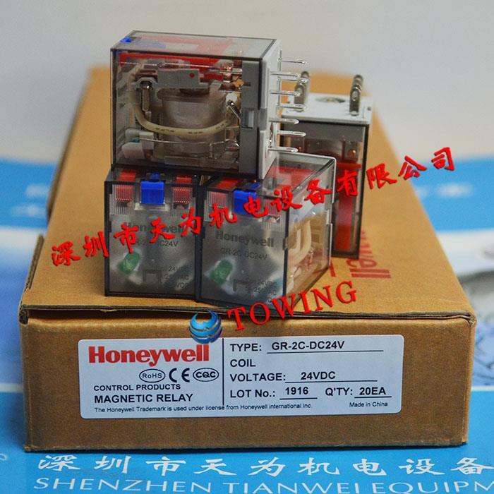 Honeywell?霍尼韋爾小型中間繼電器GR-2C-DC24V?