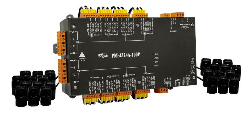 泓格多回路智能電表新產品上市: PM-4324A-100P