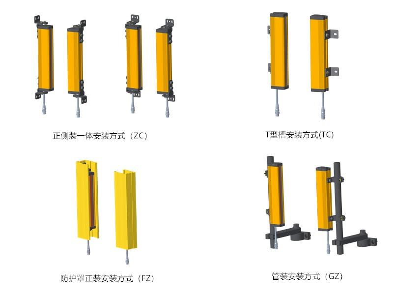 CT4安全光栅安装方式图