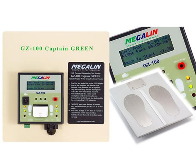 Megalin GZ-100数位型人员静电防治测试仪