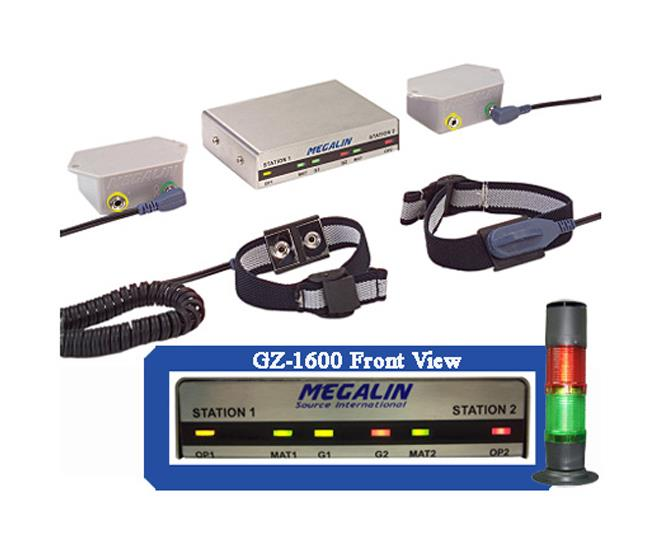 Megalin GZ-1600 双静电接地工作站监测器